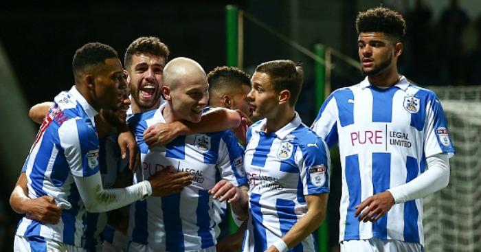 Huddersfield Town celebrate 3