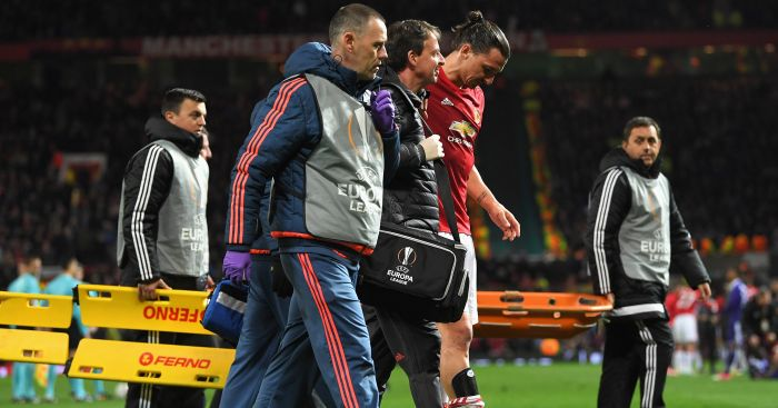 Zlatan Ibrahimovic: Out for the rest of the season