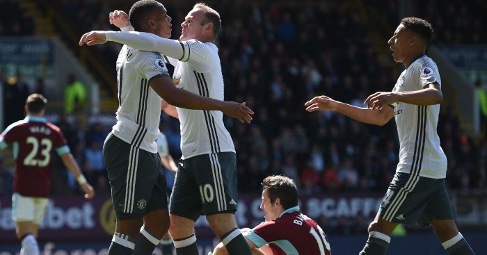 Anthony Martial: Celebrates his goal at Burnley