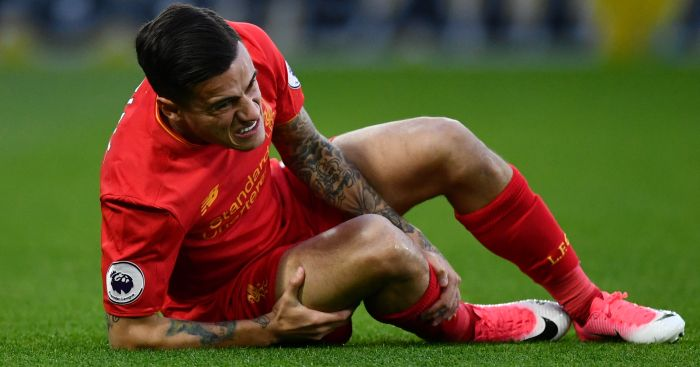 Philippe Coutinho: Suffered a knee injury v Watford