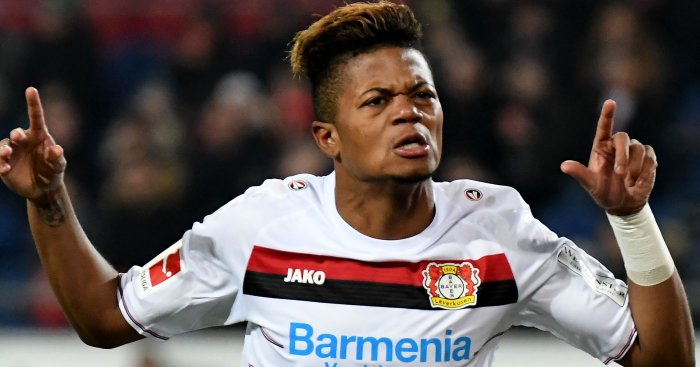 Chelsea, Man Utd, Arsenal battle for Bayer Leverkusen winger Leon Bailey