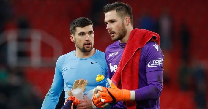 Lambert insists Stoke keeper Butland unfazed by Liverpool link