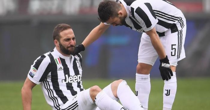 Juve low key in joyous mood after wasteful Higuain likely to miss Wembley clash