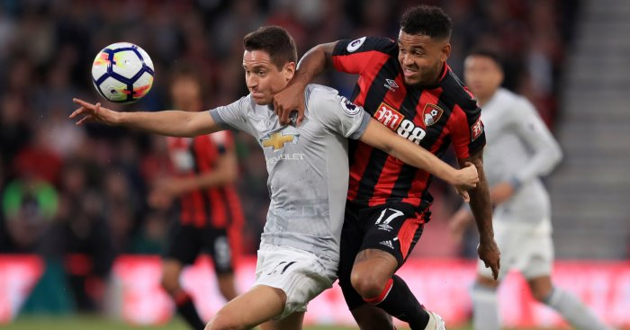 Ander Herrera Josh King Bournemouth Manchester United
