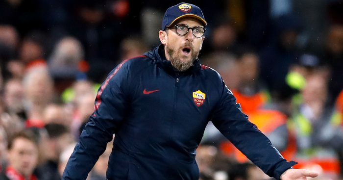 Premier League legends lay into Roma coach for his naive tactics against Liverpool.