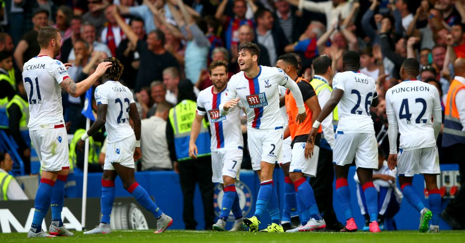 Crystal Palace: Celebrate win at Chelsea
