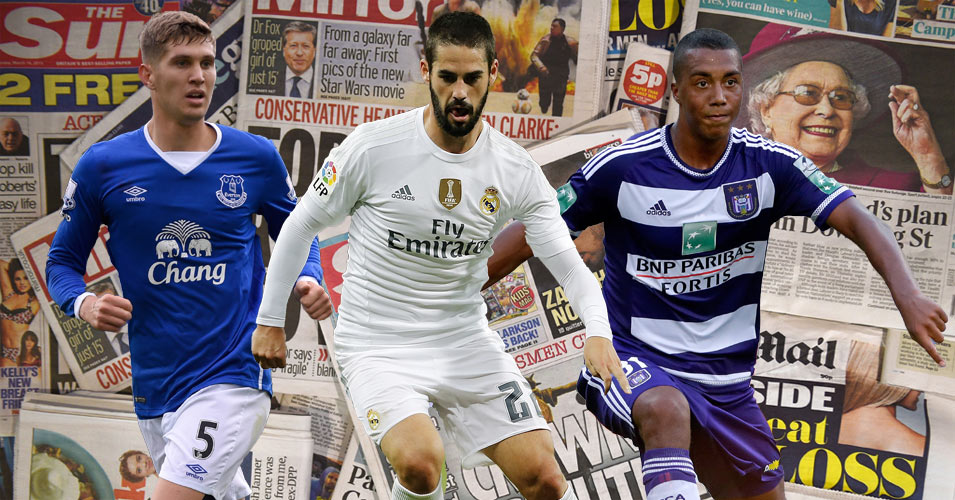 John Stones, Isco and Youri Tieleman all in the news