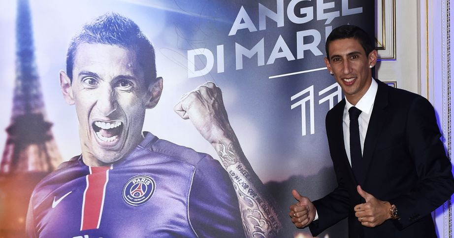 Angel Di Maria: Joined PSG after one season at Manchester United