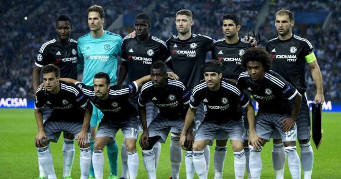 Chelsea: Line up for team photo before Champions League defeat to Porto