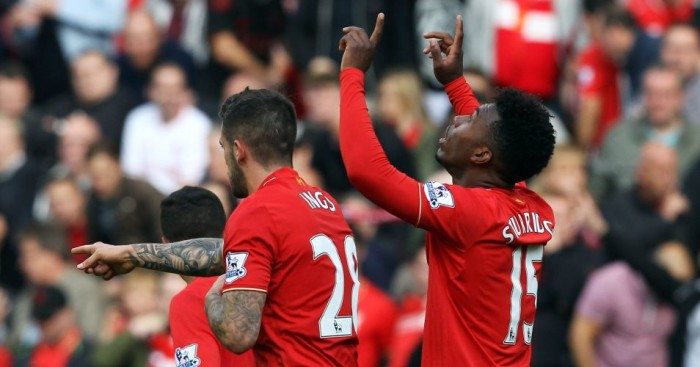 Daniel Sturridge: Celebrates scoring for Liverpool against Aston Villa