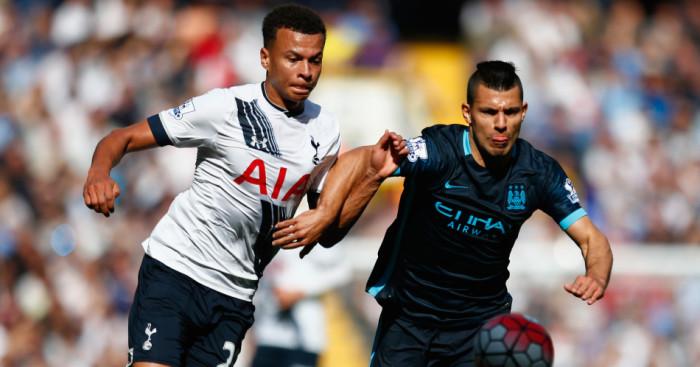 Dele Alli: Tottenham midfielder keeps a close watch on Sergio Aguero