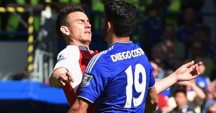 Laurent Koscielny: Stayed calm despite Diego Costa provocation