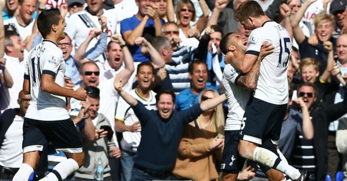 Eric Dier: Celebrates scoring for Tottenham against Manchester City