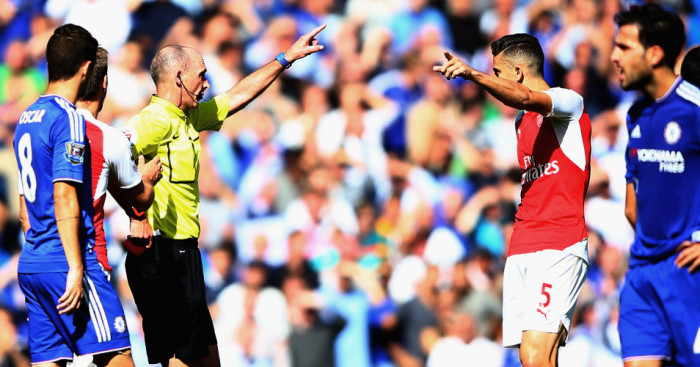 Gabriel: Sent off at Stamford Bridge