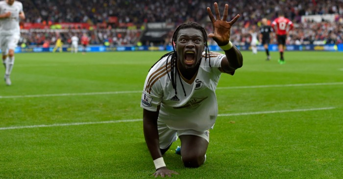 Bafetimbi Gomis: Swansea striker has scored winner in last two games against Manchester United