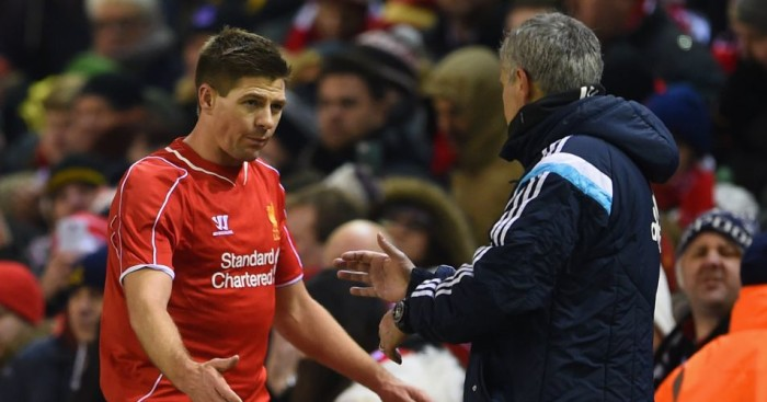 Steven Gerrard (l): Says Jose Mourinho (r) would have been his 'dream' boss at Liverpool