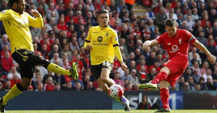 James Milner Liverpool v Aston Villa TEAMtalk