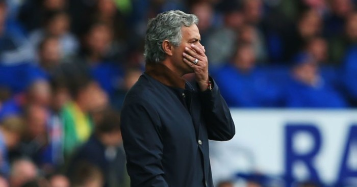 Jose Mourinho: Chelsea manager on the touchlines at Everton on Saturday