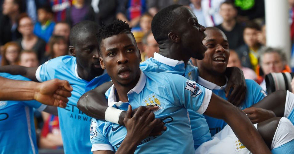 Kelechi Iheanacho: Celebrates scoring Manchester City's winner at Crystal Palace