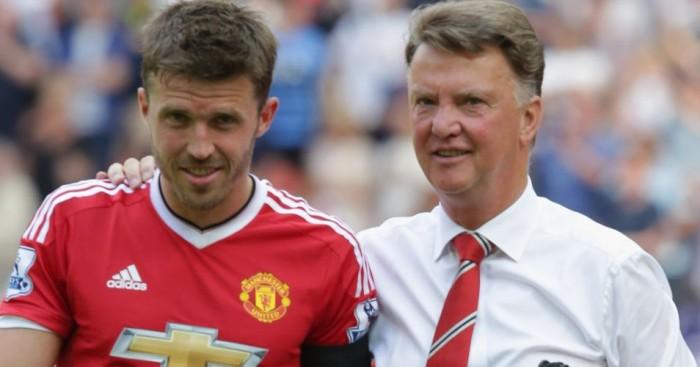 Michael Carrick Louis van Gaal Manchester United