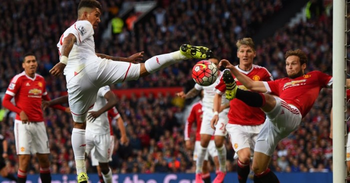 Roberto Firmino Daley Blind Manchester United v Liverpool TEAMtalk
