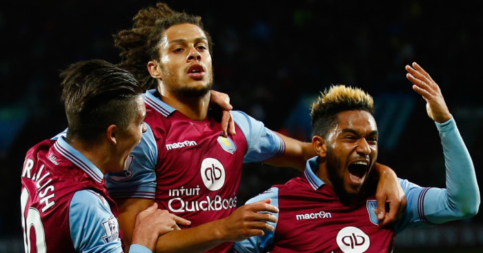 Rudy Gestede: Celebrates Aston Villa's winner against Birmingham