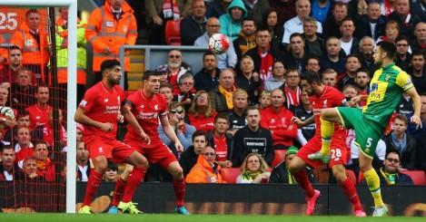 Russell Martin scores Liverpool v Norwich TEAMtalk