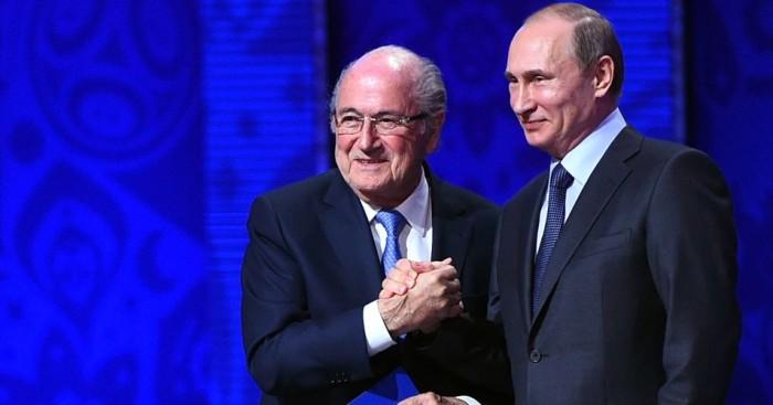Sepp Blatter Vladimir Putin FIFA TEAMtalk