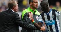 Papiss Cisse: Celebrates a goal with Newcastle boss Steve McClaren