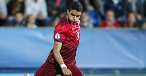 Tiago Ilori of Portugal controls the ball during the UEFA Under21 European Championship 2015 match between Italy and Portugal at Mestsky Fotbalovy Stadium