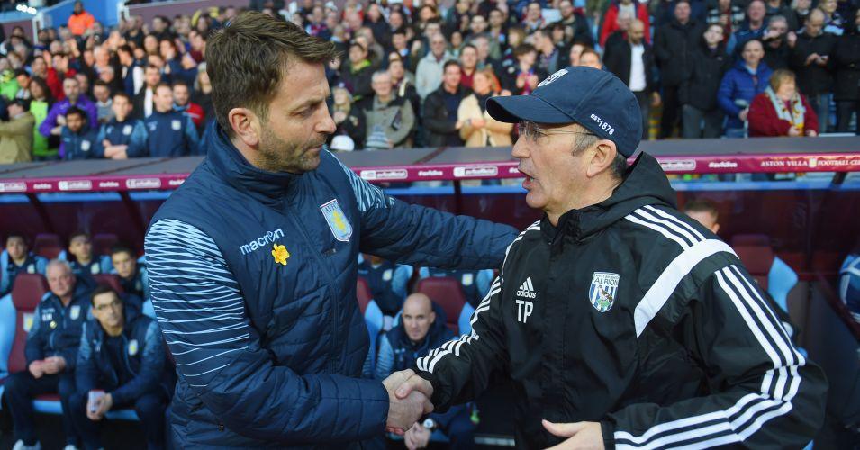 Tim Sherwood and Tony Pulis: Aston Villa host West Brom again on Saturday