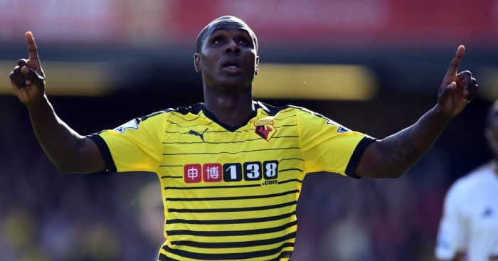 Odion Ighalo: Watford striker will hope to score again against Manchester City