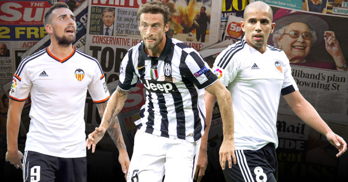 Paco Alcacer, Claudio Marchisio, Sofiane Feghouli linked with PL moves
