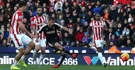 Alman Abdi: Scores for Watford after Marc Wilson's mistake