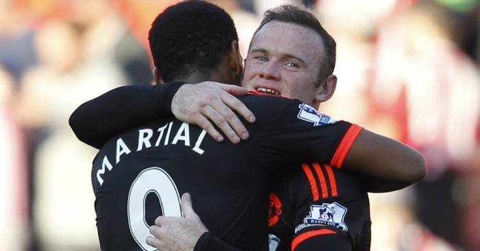 Anthony Martial Wayne Rooney Manchester United TEAMtalk