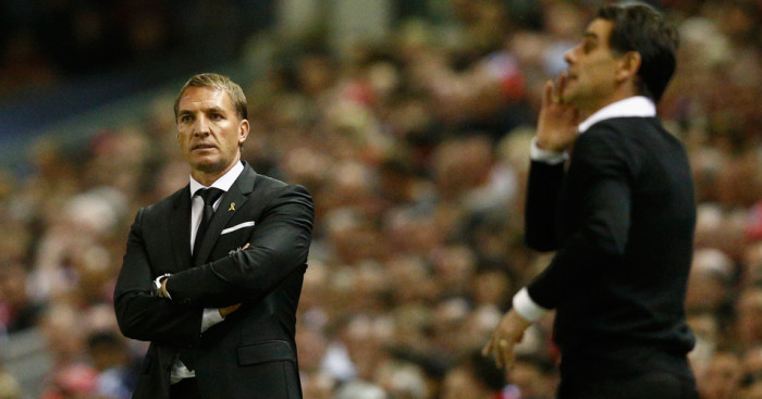 Brendan Rodgers: Looks on at Anfield on Thursday