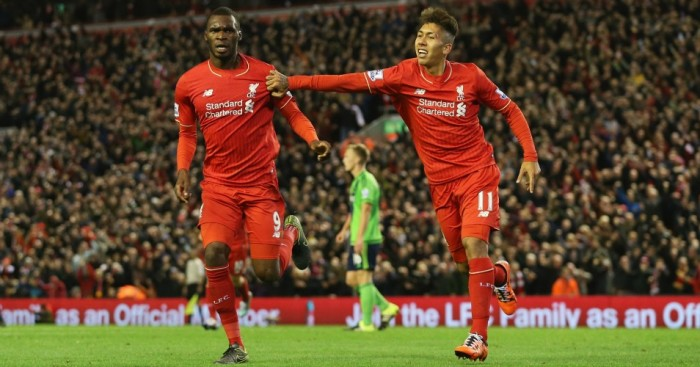 Christian Benteke and Roberto Firmino: Could both start for Liverpool against Bournemouth