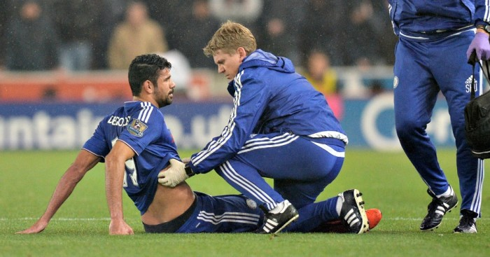Diego Costa: Injured in Chelsea's loss at Stoke City