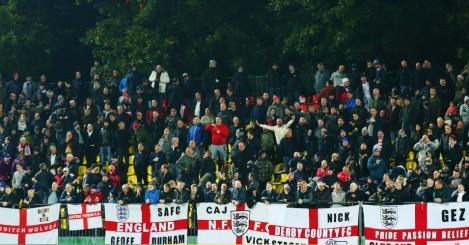 England fans Lithuania TEAMtalk
