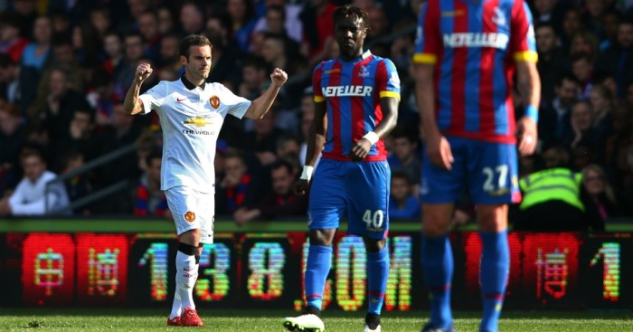Juan Mata: Scored in both of Manchester United's games against Crystal Palace last season