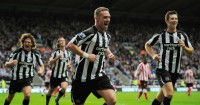 Kevin Nolan: Celebrates scoring against Sunderland in 2010