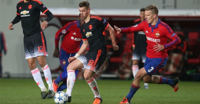 Morgan Schneiderlin: In action for Manchester United in Moscow