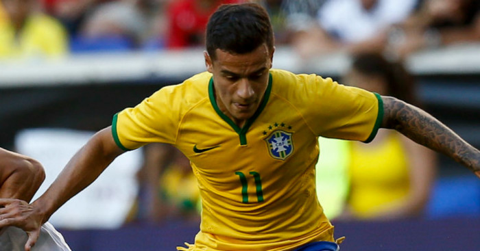 Philippe Coutinho: Pulls out of Brazil squad