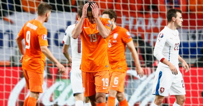 Robin van Persie: Scored at both ends as Holland failed to reach Euro 2016