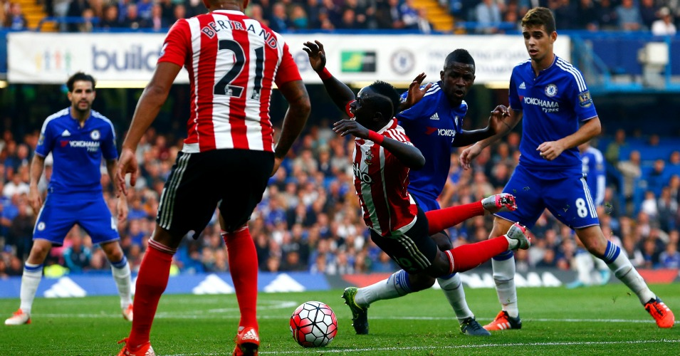 Sadio Mane: Chopped down at Chelsea