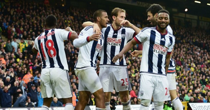 West Brom: Celebrate Salomon Rondon's winner at Norwich