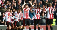 Sunderland: Celebrate their 3-0 win