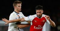 Olivier Giroud: Tracked by Eric Dier in Sunday's 1-1 draw