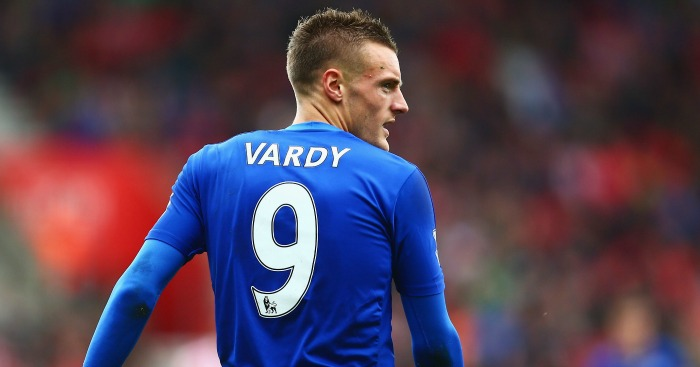 Jamie Vardy: In a Leicester shirt