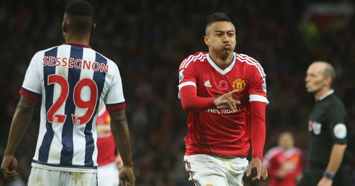 Jesse Lingard: Celebrates scoring for Manchester United against West Brom